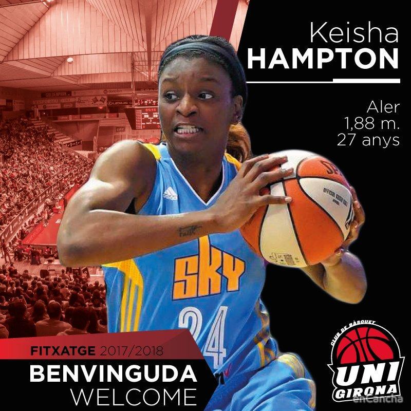 Keisha Hampton es una de las grandes apuestas de Spar Citylift Girona