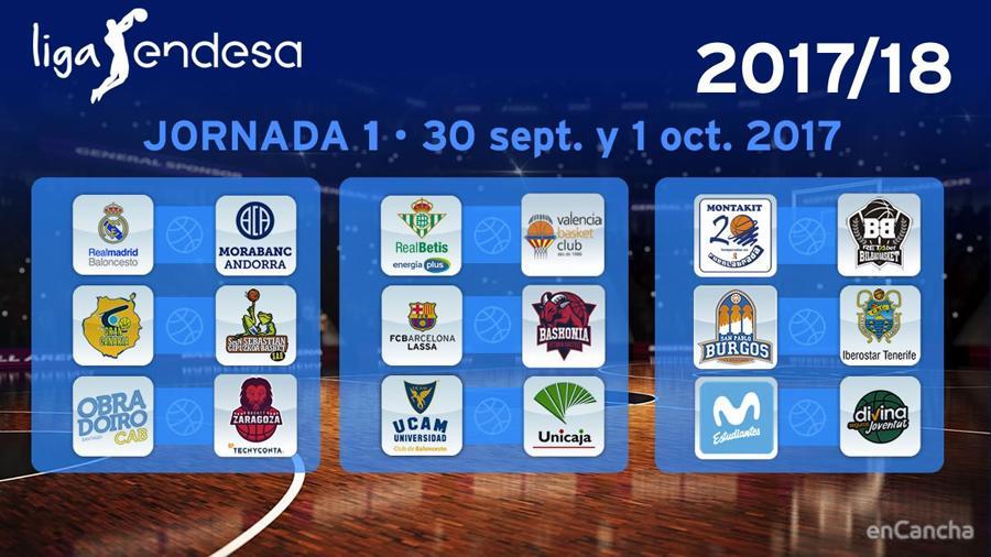 1� Jornada del Calendario ACB