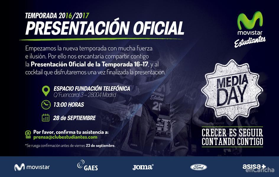 Presentaci�n oficial del Movistar Estudiantes 2016/17