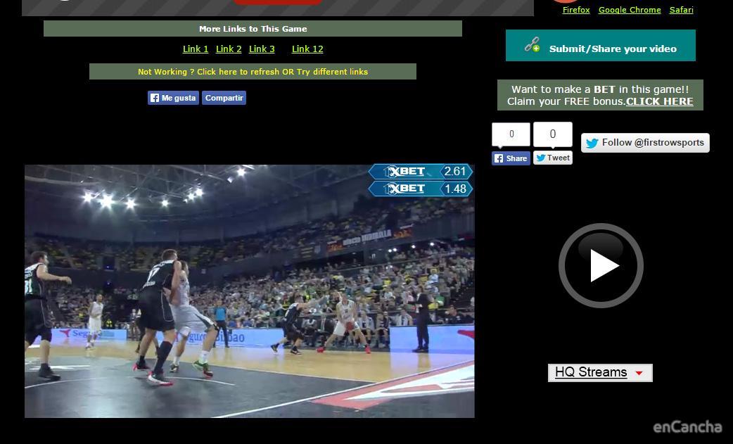 Streaming deportivo poco fiable