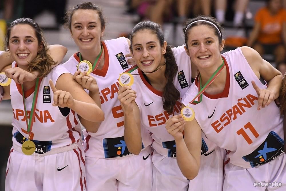 Medallistas de oro del Eurobasket U20 femenino