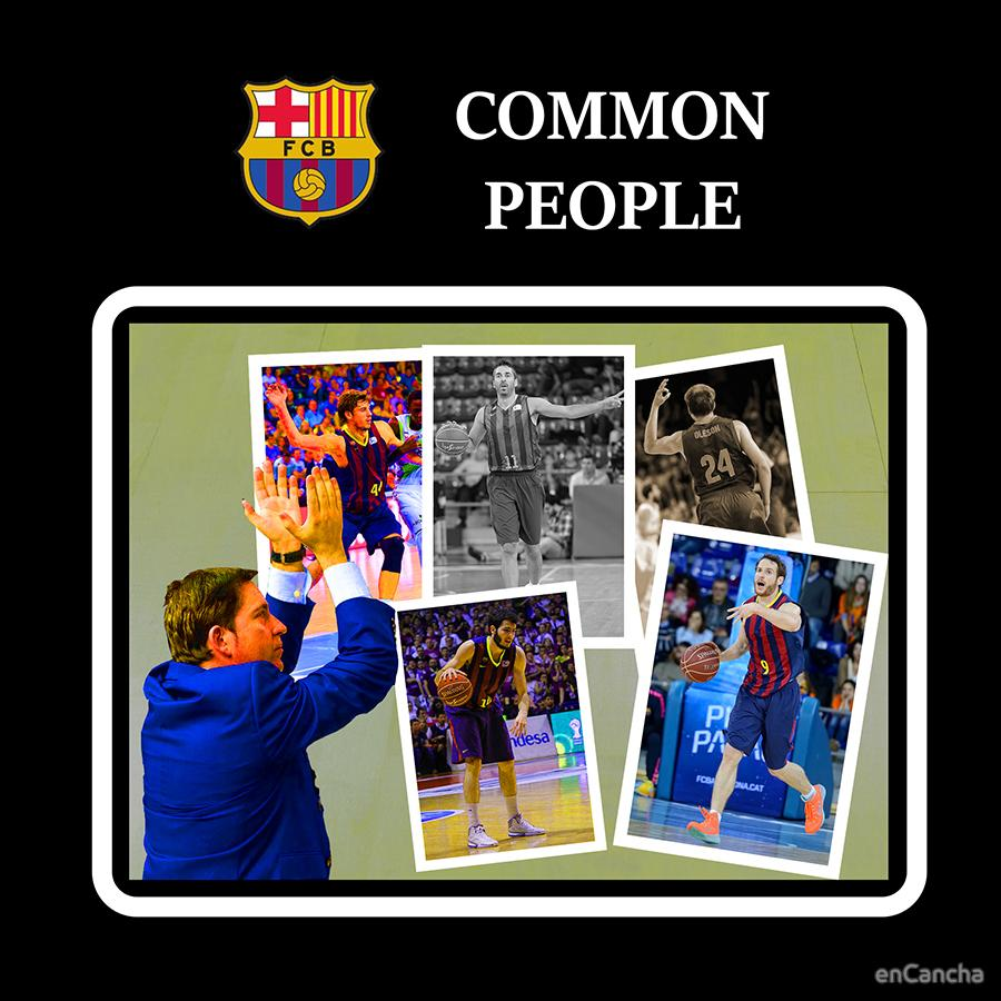Carátula del disco del FC Barcelona, 'Common people'