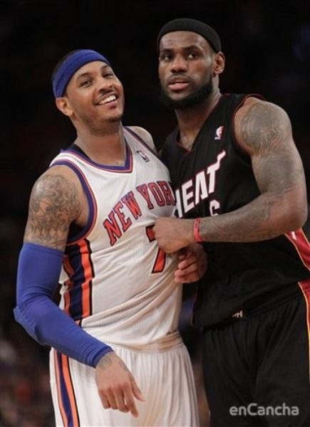 New York Knicks Carmelo Anthony //  Miami Heat LeBron James